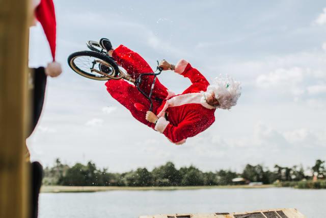 Santa bike jump