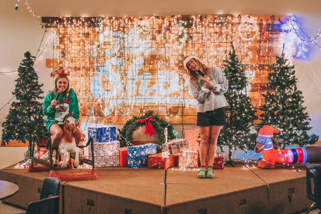 Christmas stage