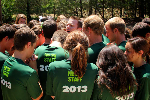 Pine Cove Staff Praying