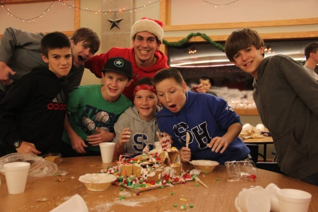 Boys Messy Gingerbread House