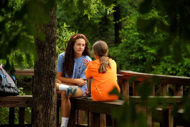 Camper and Counselor Hangtime