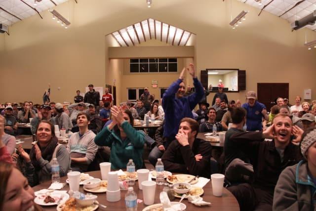 Cheering Pine Cove Staff