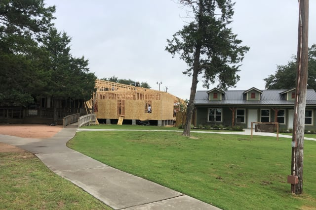 Crier Creek dining hall construction