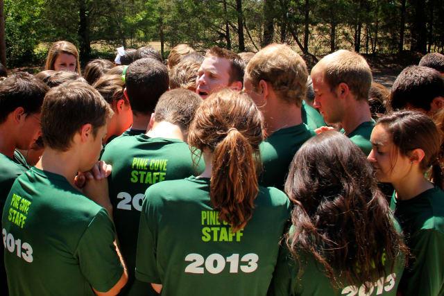 Pine Cove Staff Praying