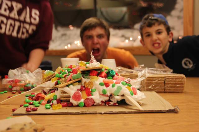 Boys Gingerbread House