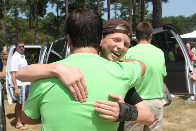 Camper Happy to see Counselor