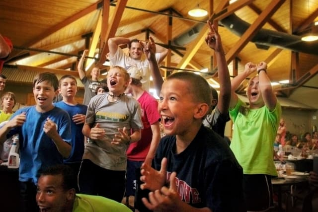 Cheering at Family Camp
