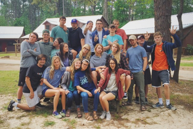 Leadership weekend campers