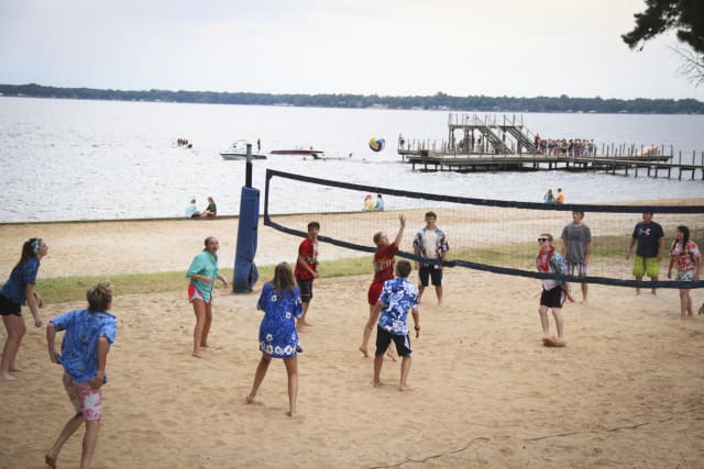 Shores Campers Playing Volleyball