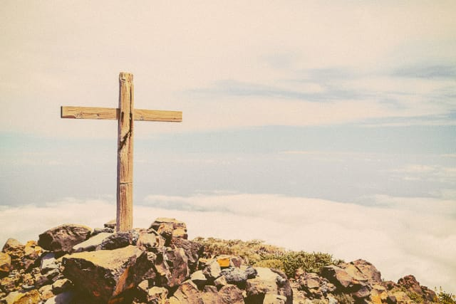 Cross on a mountain top
