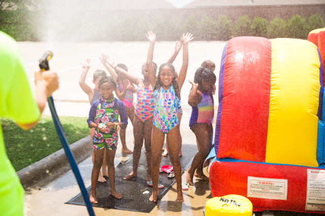 water activity at day camp