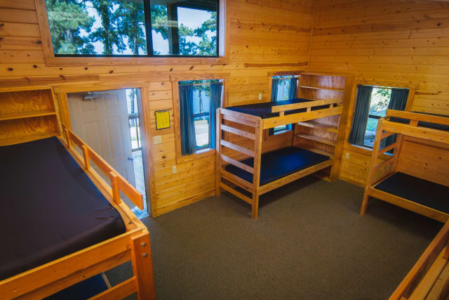 Youth camp cabin interior