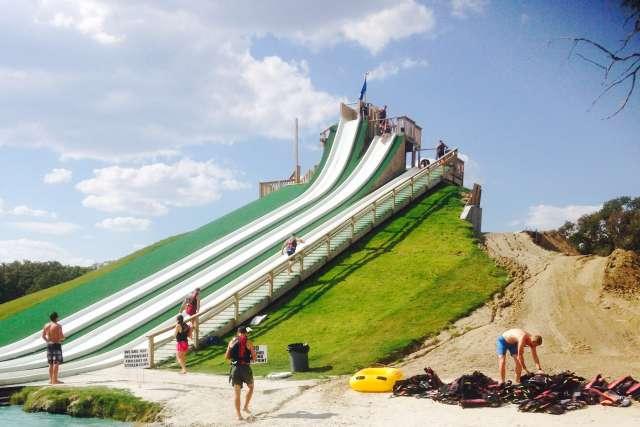 slip-n-fly water slide