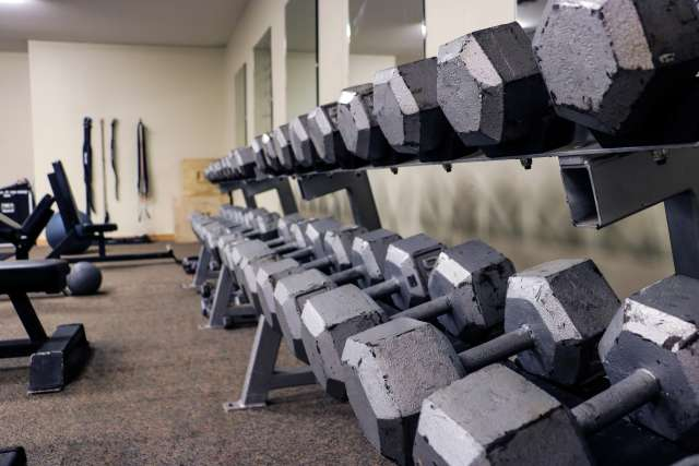 weight room at the indoor sports complex