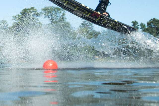 Wakeboarding at the wake park