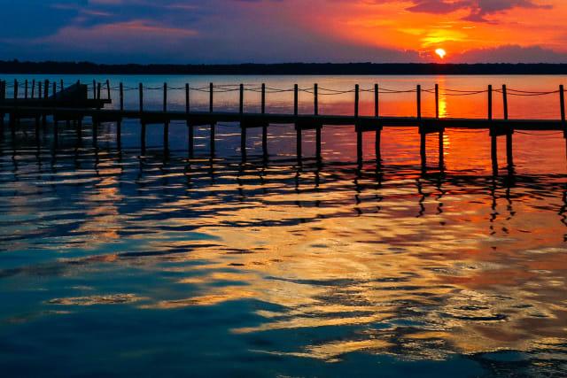 sunset on Lake Palestine