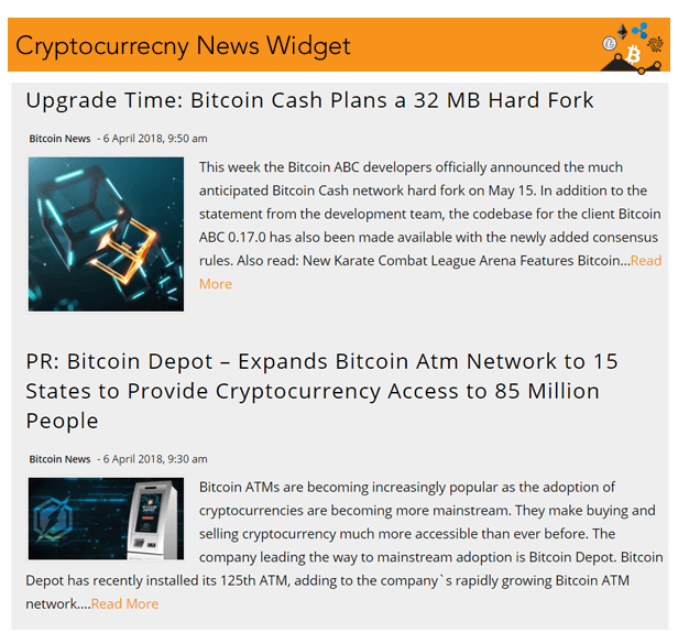 crypto news widgets