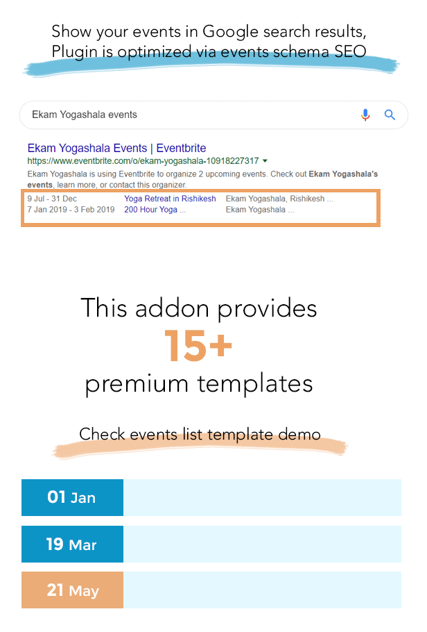 The Events Calendar Shortcode and Templates Pro  - WordPress Plugin - 3