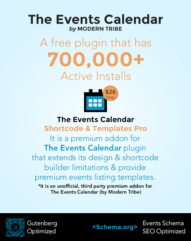 The Events Calendar Shortcode and Templates Pro  - WordPress Plugin - 2
