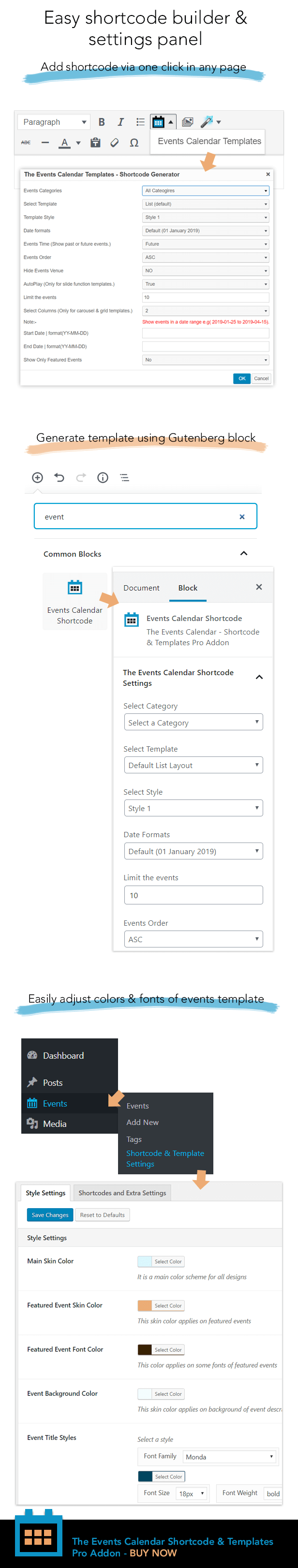 The Events Calendar Shortcode and Templates Pro  - WordPress Plugin - 8