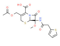 (6R)-3-(acetoxymethyl)-7-methoxy-8-oxo-7-(2-thienylacetamido)-5-thia-1-azabicyclo[4.2.0]oct-2-ene-2-carboxylic acid