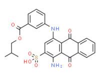 1-(2-methylpropyl) 3-[(4-amino-9,10-dihydro-9,10-dioxo-3-sulpho-1-anthryl)amino]benzoate