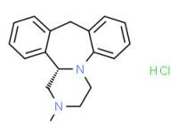 (S)-1,2,3,4,10,14b-hexahydro-2-methyldibenzo[c,f]pyrazino[1,2-a]azepine monohydrochloride