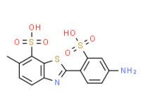 2-(4-aminosulphophenyl)-6-methylbenzothiazole-7-sulphonic acid