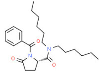 (S)-1-benzoyl-N,N-dihexyl-5-oxopyrrolidine-2-carboxamide