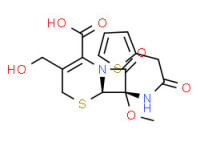 (6R-cis)-3-(hydroxymethyl)-7-methoxy-8-oxo-7-(2-thienylacetamido)-5-thia-1-azabicyclo[4.2.0]oct-2-ene-2-carboxylic acid