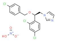 (-)-1-[2-[(4-chlorophenyl)methoxy]-2-(2,4-dichlorophenyl)ethyl]-1H-imidazolium nitrate