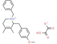 (±)-2-[(p-anisyl)methyl]-1-benzyl-1,2,5,6-tetrahydro-3,4-dimethylpyridinium hydrogen oxalate