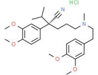 (-)-[3-cyano-3-(3,4-dimethoxyphenyl)hex-6-yl][2-(3,4-dimethoxyphenyl)ethyl]methylammonium chloride