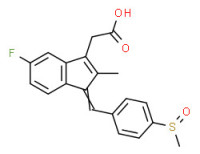 (Z)-(±)-5-fluoro-2-methyl-1-[[4-(methylsulphinyl)phenyl]methylene]-1H-indene-3-acetic acid