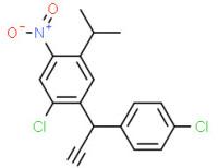 (2-chloro-5-isopropyl-4-nitrophenyl)(4-chlorophenyl)acetonitrile