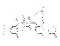 [[5-(acetylamino)-4-[(2-bromo-4,6-dinitrophenyl)azo]-2-ethoxyphenyl]imino]di-2,1-ethanediyl bis(chloroacetate)
