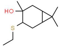 4-(ethylthio)-3,7,7-trimethylbicyclo[4.1.0]heptan-3-ol