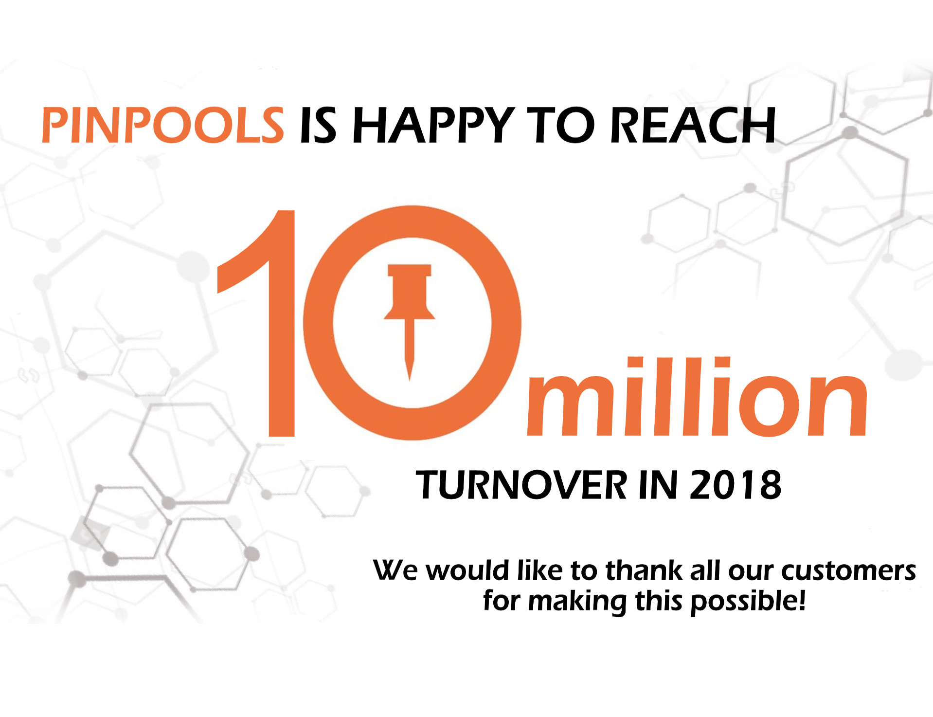 PINPOOLS reaches a milestone.