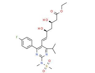 (3R,5S,E)-Ethyl 7-(4-(4-fluorophenyl)-6-isopropyl-2-(N-methylmethylsulfonamido) pyrimidin-5-yl)-3,5-dihydroxyhept-6-enoate