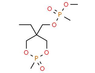 (5-ethyl-2-methyl-1,3,2-dioxaphosphorinan-5-yl)methyl dimethyl phosphonate P-oxide