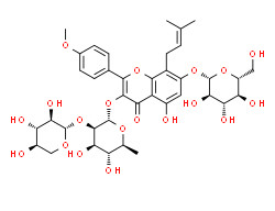3-[(2S,3R,4R,5R,6S)-4,5-dihydroxy-6-methyl-3-[(2S,3R,4S,5R)-3,4,5-trihydroxyoxan-2-yl]oxyoxan-2-yl]oxy-5-hydroxy-2-(4-methoxyphenyl)-8-(3-methylbut-2-enyl)-7-[(2S,3R,4S,5S,6R)-3,4,5-trihydroxy-6-(hydroxymethyl)oxan-2-yl]oxychromen-4-one