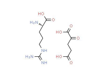 (2S)-2-amino-5-(diaminomethylideneamino)pentanoic acid,2-oxopentanedioic acid