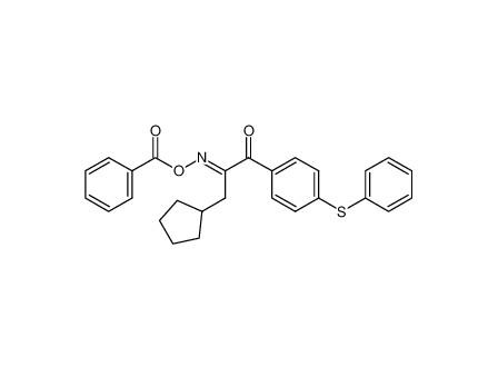 1-(4-phenylthiophenyl)-(3-cyclopentyl)-propan-1,2-dione-2-benzoic acid oxime ester