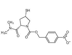 (2S,4S)-2-(dimethylaminocarbonyl)-4-mercapto-1-(p-nitrobenzyloxycarbonyl)-1-pyrrolidine