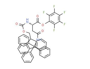 (2,3,4,5,6-pentafluorophenyl) (2S)-2-(9H-fluoren-9-ylmethoxycarbonylamino)-4-oxo-4-(tritylamino)butanoate