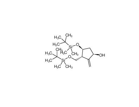 (1R,3R,4S)-4-[[(1,1-dimethylethyl)dimethylsilyl]oxy]-3-[[[(1,1-dimethylethyl)dimethylsilyl]oxy]methyl]-2-methylene-Cyclopentanol