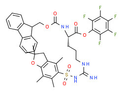 (2,3,4,5,6-pentafluorophenyl) (2S)-5-[[amino-[(2,2,4,6,7-pentamethyl-3H-1-benzofuran-5-yl)sulfonylamino]methylidene]amino]-2-(9H-fluoren-9-ylmethoxycarbonylamino)pentanoate