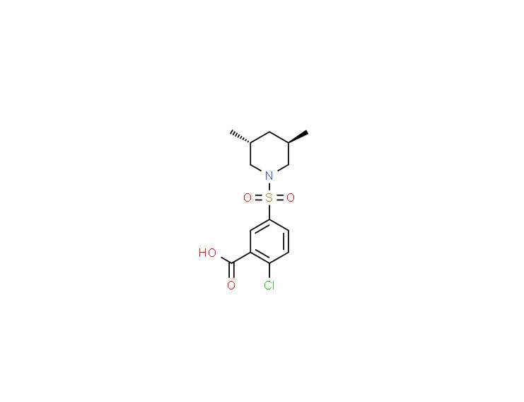 trans-2-chloro-5-[(3,5-dimethylpiperidin-1-yl)sulphonyl]benzoic acid