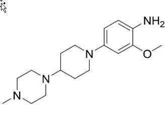 2-Methoxy-4-(4-(4-methylpiperazin-1-yl) piperidin-1-yl) aniline
