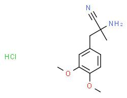 (2S)-2-amino-3-(3,4-dimethoxyphenyl)-2-methylpropanenitrile,hydrochloride